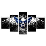 Van het canvas Het Kader van de Beelden van de Vlag van de Kunst van de Muur van de Affiches van hd- Af:drukken de Abstracte Schilderijen van de Adelaar van de Luchtmacht van 5 Stukken Voor het Decor van het Huis van de Woonkamer