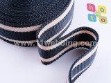 Gestreiftes Baumwollgewebtes material/Poly-Baumwollegewebtes material für Beutel-Griff-Brücke