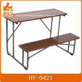 La fabricación de madera y metal el doble de mobiliario escolar, la escuela juego de mesa y sillas