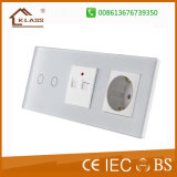 Zoccolo di parete astuto di tocco di nuovo arrivo 2pin con la porta del USB