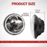 Imperméable IP67 haute anneau halo des feux de croisement changer les couleurs RVB LED de 7 pouces pour projecteur ronde Jeep Wrangler
