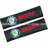 Le carbone de ceinture de sécurité de véhicule couvre des garnitures d'épaule pour Skoda