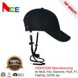 エースのHeadwearの習慣100%の金属のバックルが付いている黒い綿の野球帽