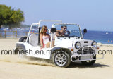 Sedi zero dell'emissione 4 o automobile elettrica a quattro passeggeri 17.5HP/automobile di E/Buggy verde della spiaggia/mini Moke/automobile locativa a bassa velocità ECE/EEC/Coc del veicolo/Lsv/Nev/Tourist