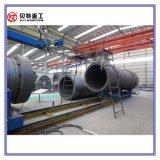 cilindro de secagem de 1.8m x de 7m planta quente do asfalto da mistura de 120 T/H com baixa emissão