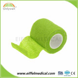 Fasciatura non tessuta elastica coesiva di dolore di rilievo di sport autoadesivo di colore