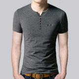 최신 디자인 형식 남자의 우연한 V 목 t-셔츠