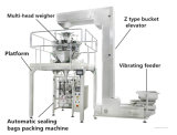 3-Side que sella la embaladora de relleno de formación vertical con Multiheads Weigher520c