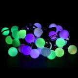 3cm 50pcs bulle LED alimentée par la chaîne de Noël Boule de lumière colorée lampe étanche pour des vacances Festival partie Jardin Décoration de mariage