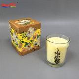 Classic perfumada Vela jarra de vidro transparente com caixa personalizada