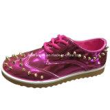 Новые моды ЭБУ системы впрыска для отдыхающих обувь PU обувь для женщин (YJ1216-17)
