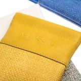 Тиснение (emboss) моды высокого качества в верхней части пружины с логотипом PU шерстяной футляр для очков