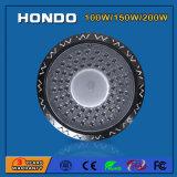 110-130lm/W AC85-265V Ra80 150W OVNI Lâmpada High Bay LED no Depósito/Oficina de Trabalho