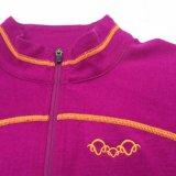 양 실행 여자의 메리노 양모 모직 내무반 Zip 스웨트 셔츠