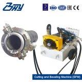 """72 """" - 84 """"のためのOd取付けられた携帯用油圧分割フレームまたは管の切断そして斜角が付く機械(1828.8-2133.6mm)"""