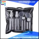 Бутылка перемещения 4 PCS пластичная косметическая установленная с мешком PVC