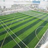 grama artificial da forma da cruz da altura de 43mm para o campo de futebol