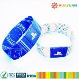 Kundenspezifisches Gewebeelastischer RFID Wristband des Musik-Festival-NFC NTAG213