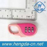 Yh9919 Mini Sala de código de 3 dígitos de bloqueio de cadeado mochila de combinação