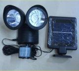 Lámpara de detección principal doble accionada solar