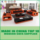 居間のための現代家具の本革のソファー