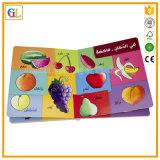 Impression polychrome de livre de panneau d'enfants (OEM-001)