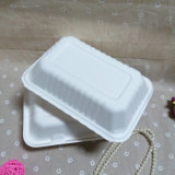 Alimentos envase Compostable biodegradables de bagazo Bento Box Lunch