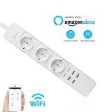 Wireless WiFi Smart Power газа Smart Home блок питания с 5 розеток работу с Amazon Alexa с дистанционным управлением