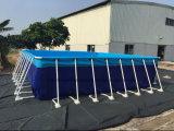 Große Belüftung-materielle bewegliche Swimmingpool-Rahmen-Metallschwimmbäder