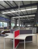 6 personne Partition de l'aluminium Bureau de poste de travail Poste de travail de l'armoire