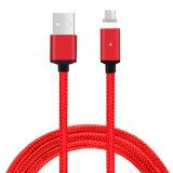 Cable rápido del USB del micr3ofono Blined de la succión trenzada de nylon de C3670 para el móvil de Andriod