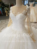 Rótula de Manga Longa Aoliweiya Beca vestidos de Casamento Árabe