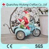 Mestieri di natale personalizzati resina della decorazione del Babbo Natale del motociclo