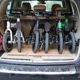 Vélo électrique libre de ville de pivot de vert sans frottoir de moteur pliant bicyclette électrique pliée de pneu de 12 pouces la mini
