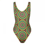 "Swimwear do biquini da tanga da senhora Africano Imprimir Elevado Corte ""sexy"" da forma"