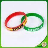 Logo imprimé Nom du pays et d'un drapeau bracelet en silicone pour l'activité