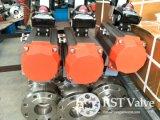 Pneumatische Actuator van het roestvrij staal 2PC Van een flens voorzien Kogelklep Met motor