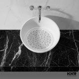 Sanitaires Compteur de surface solide noir au-dessus de la salle de bains lavabos (171121)