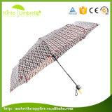 Зонтик перемещения изготовленный на заказ створки печати 3 логоса Silk миниый