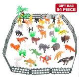 Figura degli animali, mini giocattoli impostati, animale selvaggio realistico degli animali della giungla delle 54 parti della plastica di vinile di Valefortoy che impara i giocattoli di favori di partito per i capretti delle ragazze dei ragazzi
