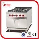 Industrielle cuisinière à gaz en acier inoxydable avec deux têtes prix d'usine fonte anneau