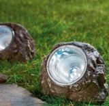 Solar LED luces de paisajismo de roca para decoración iluminación de la piedra solar
