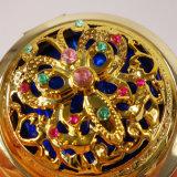 Дешевым Antique Customerized установленный Rhinestone Мед-Как зеркало косметики карманн сплава