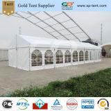 6x15m l'aluminium de 500 places tente d'hôtel L'hiver partie tente avec un plancher en bois