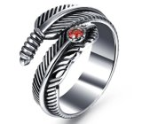 Los anillos abiertos de la pluma del acero inoxidable para hecho a mano original de los hombres previenen el anillo de la alergia