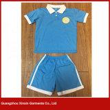 Concevoir les chemises en fonction du client 100% de polo d'usure d'école de piqué de coton pour les sports (U25)