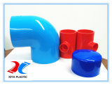 O cotovelo de 90 graus de PVC azul com 20-400mm