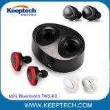 Мини-звездочную гостиницу беспроводных наушников Bluetooth Tws-K2 с зарядным устройством в салоне Bluetooth V4.1
