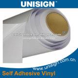Lijm 80microns/120GSM van pvc van Unisign de Zelfklevende Vinyl Hoge Sterke Permanente Witte