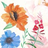 La beauté des fleurs colorées à la main de l'huile pour les murs de peinture Arts